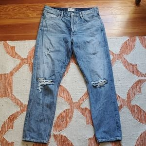 Agolde straight distressed jeans 29